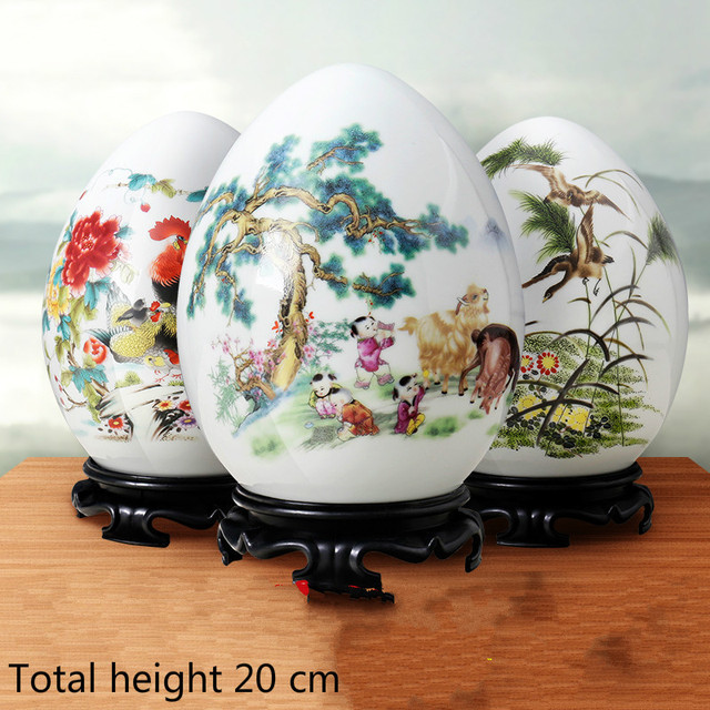 Jingdezhen Ceramic Lucky Ornaments Furnishing Decoration Crafts Office Coffee Accessories Wedding Desktop Pendulum E $ 1
