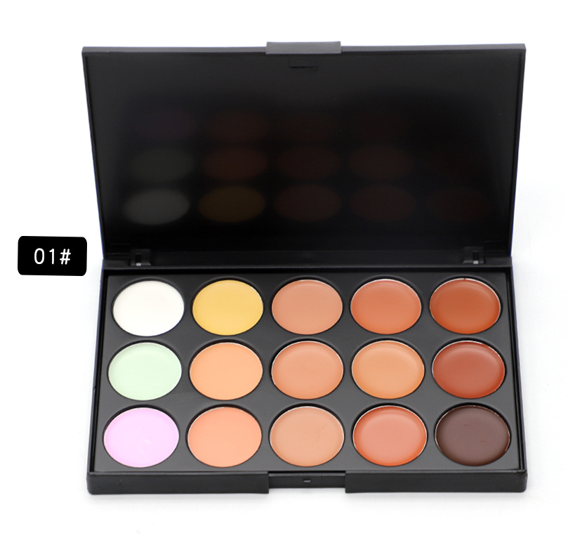 ROMANTIC BEAR Contour Kit Waterproof Moisturizer Concealer palette Cosmetics 3 colors available 200pcs/lot DHL Free Face Makeup image