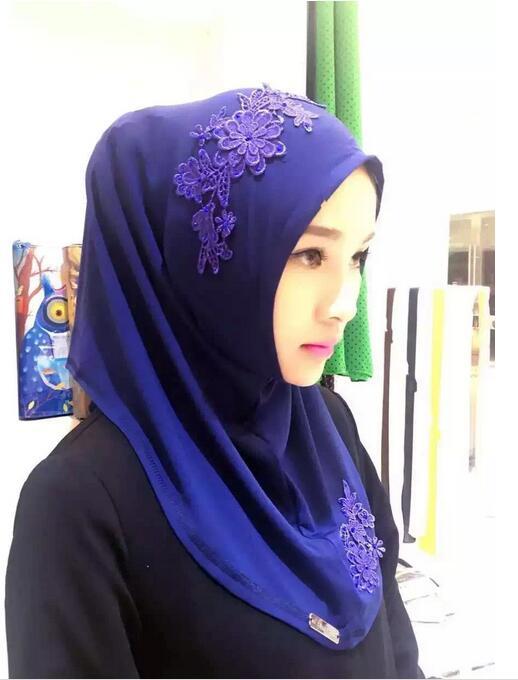 2018 Nuevo Bordado Headscarf Bufanda mujer hijab Moda Musulmán - Disfraces