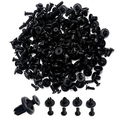 Newest 100Pcs Car Auto Plastic Hollow Rivets Hole Fastener Fender Bumper Push Pin Clip
