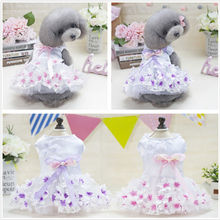 New Cute Dog Baby Cartoon Style Pet Summer Skirt Puppy Clothes Spring Small