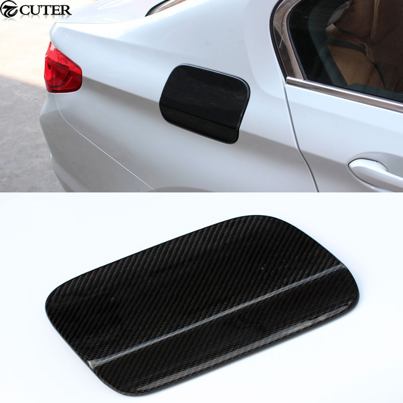 G30 Carbon Fiber Car body kit Side tuyere Fuel tank cap cover For BMW G30 5 series 2017 car accessories dry carbon fiber fuel tank cover fit for gt86 ft86 zn6 fr s brz zc6 oil fuel tank covers trim car stying