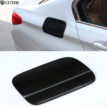 G30 Carbon Fiber Car body kit Side tuyere Fuel tank cap cover For BMW G30 5 series 2017
