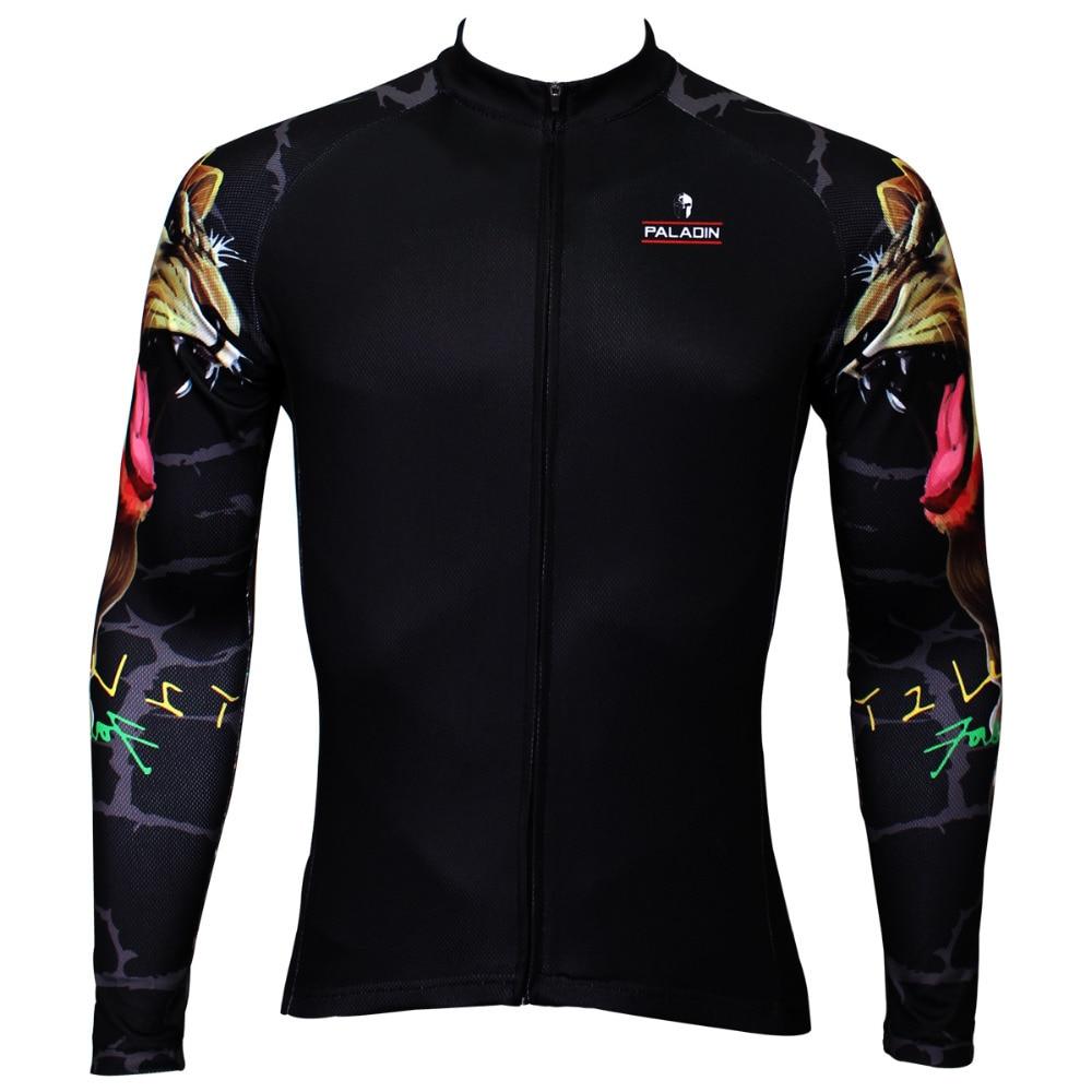 Gypsy Lion Pattern Mens Special s dlouhým rukávem Cyklodres Jersey Prodyšné Černá Cyklistika / Cyklistické oblečení Polyester Cyklistické oblečení
