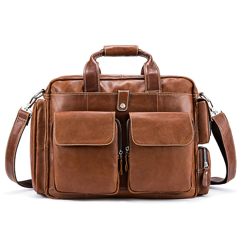 Satchels Genuine Leather men's bag Europe and the United States luxury brand high-capacity super practical men laptop Handbags europe and the united states popular bar chairs wholesale and retail australian fashion coffee stool free shipping