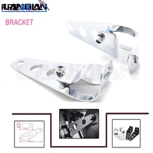 Universal Motorcycle Headlight Bracket Adjustable Fork Mount Clamp for with 35~43mm Tubes