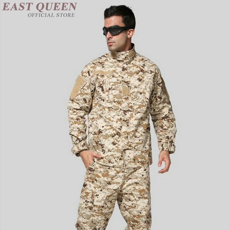 American military uniform desert us army tactical camouflage special forces uniforms clothing combat costume outfit FF987