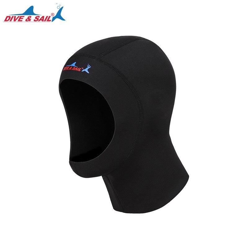 1mm Neoprene Scuba Diving Hoods Hat Men Women Keep Warm Snorkeling Equipment Hat Swimming Cap Diving Mask Black New Dive Cap diving equipment