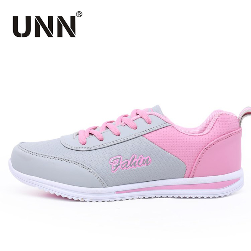 УНН Кроссовки 2018 новые удобные Спортивная обувь Для женщин розовый искусственная кожа  ...