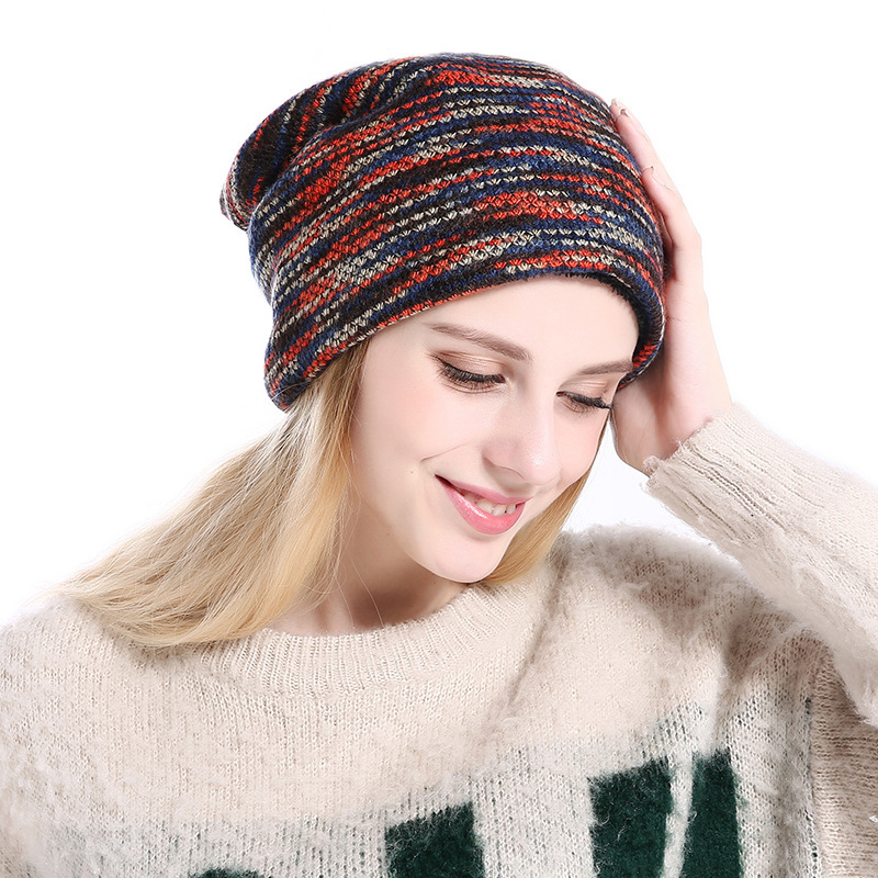 New Arrivals Fashion Women Beanie Warm Plush Wool Hat Men Outdoors Winter Knitting Hat For Girl Multicolour han edition spot qiu dong the day han2 ban3 girl gradient fashionable joker knitting wool hat