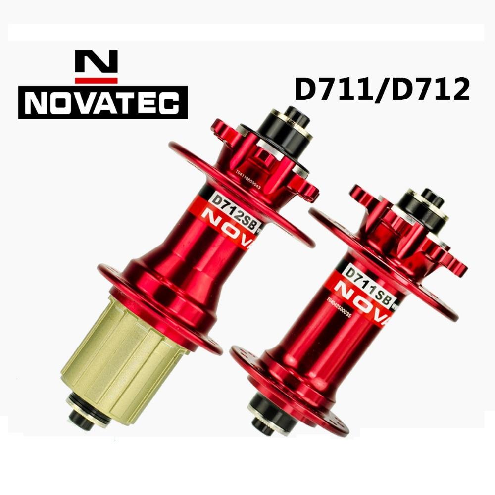 цена на Novatec d711sb d712sb MTB bike hub bicycle wheel hubs include quick release skewers Novatec 711 712 disc brake hub 28h aero hole
