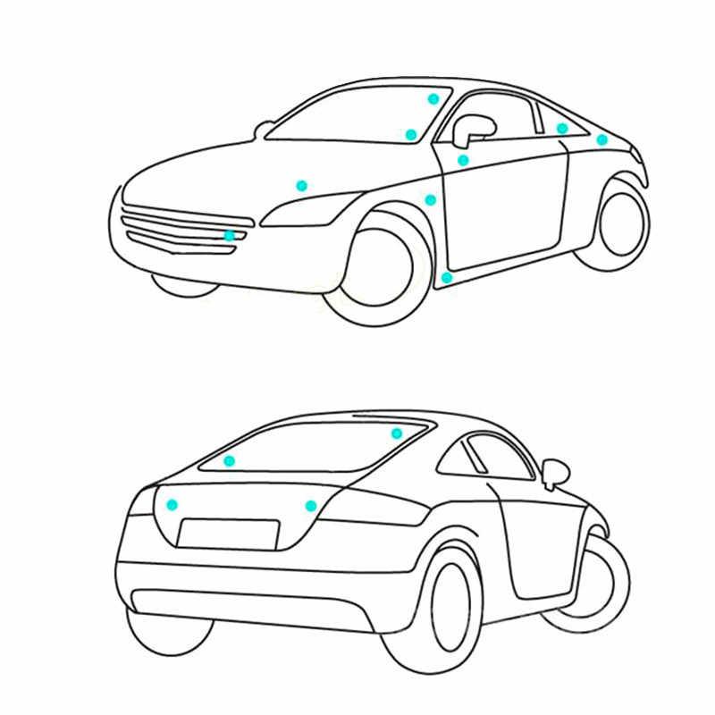 XCBW Insignia de Emblema de Coche Cromado 3D ABT Reemplazo de calcoman/ías de calcoman/ías para autom/óviles para A-UDI para V-W,Negro
