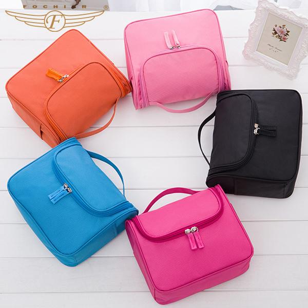 Nuevo 2016 de La Moda de Gran capacidad colgante del recorrido del artículo de Tocador kits paquete de admisión de 5 Colores bolsa de cosméticos bolsa de viaje pequeña bolsa