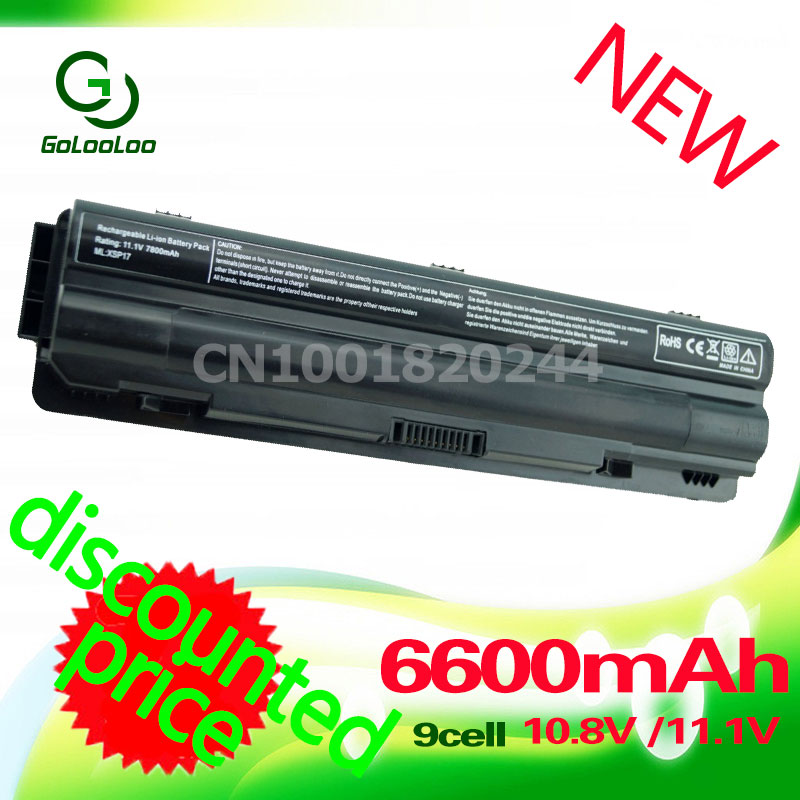 Golooloo 9 Cell New JWPHF J70W7 R795X WHXY3 Battery for Dell XPS 14 15 17 L401X L501X L502X L521X L702X L701X 3D 11 1v 90wh original battery for dell xps15 xps14 xps17 l702x l502x j70w7 r795x genuine xps14 xps15 high capacity battery 9 cell