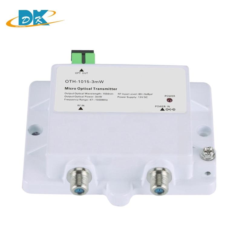Transmisor óptico Micro OTH-1015-3mW FTTH CATV fibra óptica monomodo 47-1000MHz 1550NM pérdida de alto rendimiento con SC/APC 100 unids/caja FTTH SC/APC fibra óptica monomodo SC APC conector rápido rentable conector rápido de fibra óptica