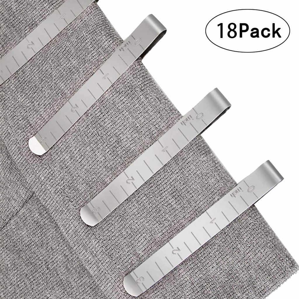 Шт. Металлический швейный обжимной зажим из нержавеющей стали подшивающие зажимы со встроенной линейкой измерительная линейка для ткани 5л
