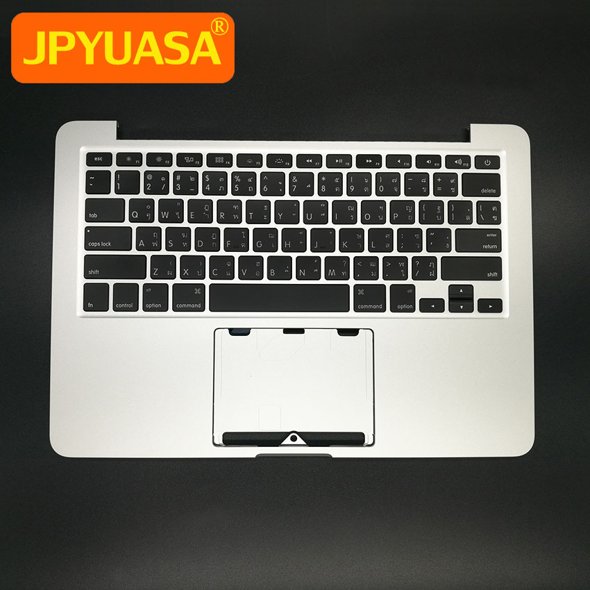 New Replacement Topcase with Thailand Thai Keyboard + Backlight For Macbook Pro 13 A1502 Top Case Keyboard 2013 2014 original new topcase 11 6 for macbook air a1370 a1465 palmrest top case with us keyboard backlight no touchpad 2013 2015