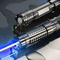 Оригинал Лазерная Указка Голубой Луч 445nm 5000 МВт Мощный Лазер ручка Фокус С 5 Star Cap Защитные Очки E3433 T13 0.2