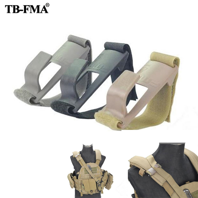 TB-FMA Shoulder Mount Sling Fixed Anchor Hook Clip Molle Chest Rig black & Desert TB1011 with Free shipping