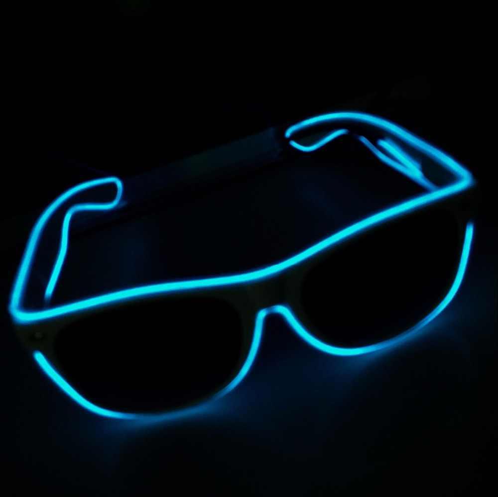 Led brilho óculos de sol moda neon light up glow rave traje festa brilhante óculos de sol suprimentos festa de páscoa