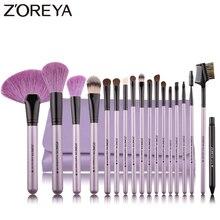 ZOREYA Brand 18Pcs Natural Makeup Brush For Make Up Soft Bristles Powder Foundat