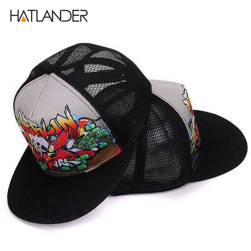 HATLANDER New parent-child baseball cap for boys girls cool hip hop caps  snapback summer sun hats mesh trucker caps men women e29e82c54585