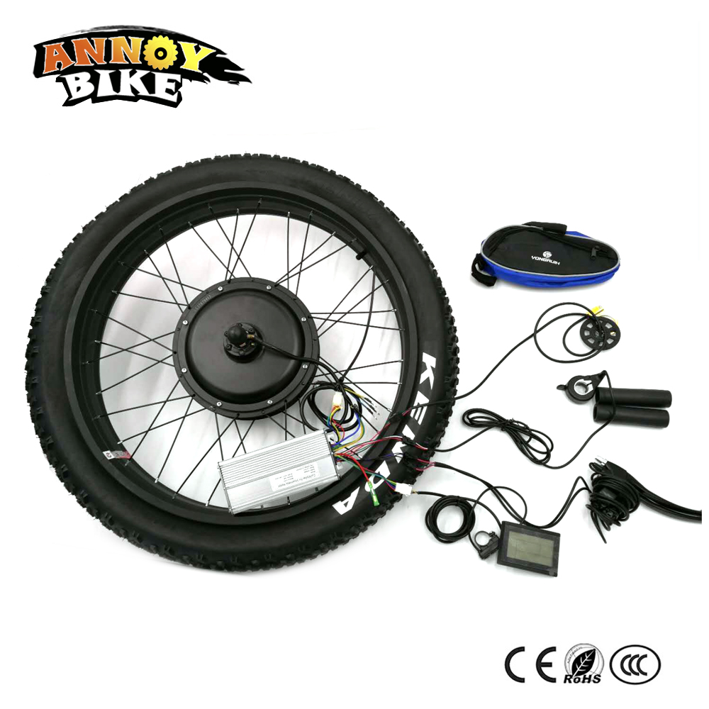 Rear Drive 24 26 4.0 Fat 48v 1500w Motor Electric Fat Bike Conversion Kit Snow Bike kit Fat Bicycle Kit with 4.0 Tyre