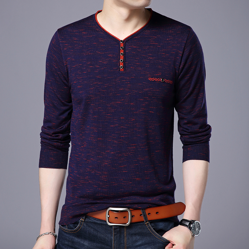 2019 New Fashion Brand Sweater For Mens Pullovers V Neck Slim Fit Jumpers Knitwear Thin Autumn Korean Style Casual Mens Clothes Utmost In Convenience