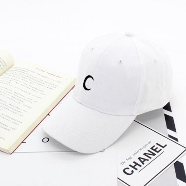 Moon Embroidery 2016 New Fashion Baseball Caps Women Men Cotton Black White  Snapback Hats For Men Gorras Hombre fed83644a42