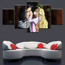 5 Pieces Fairy Tail Mavis Vermilion Zeref Dragneel Wall Art Modular Picture Framework Home Decor Canvas Painting Anime Poster