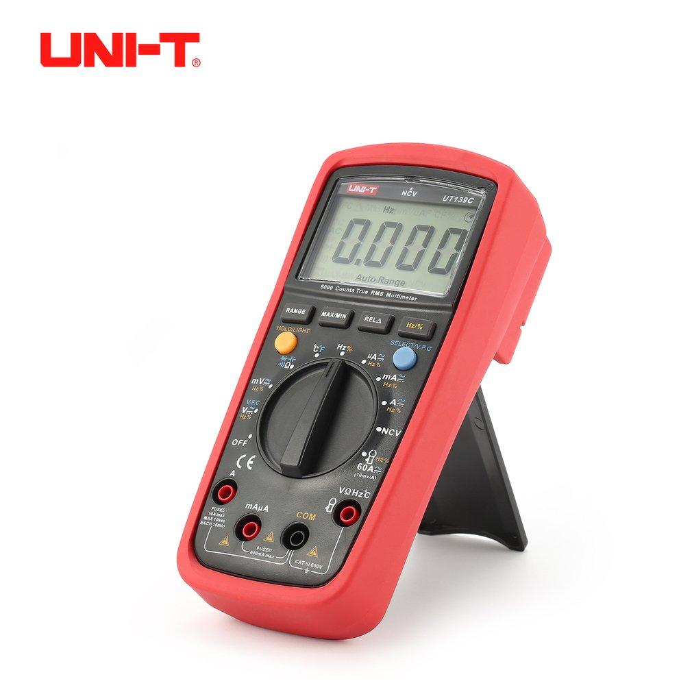 UNI-T UT139C Digital Multimeter Voltmeter with Auto Range True RMS DC/AC Voltage LoZ Temperature Capacitance VFC 6000 Counts цена