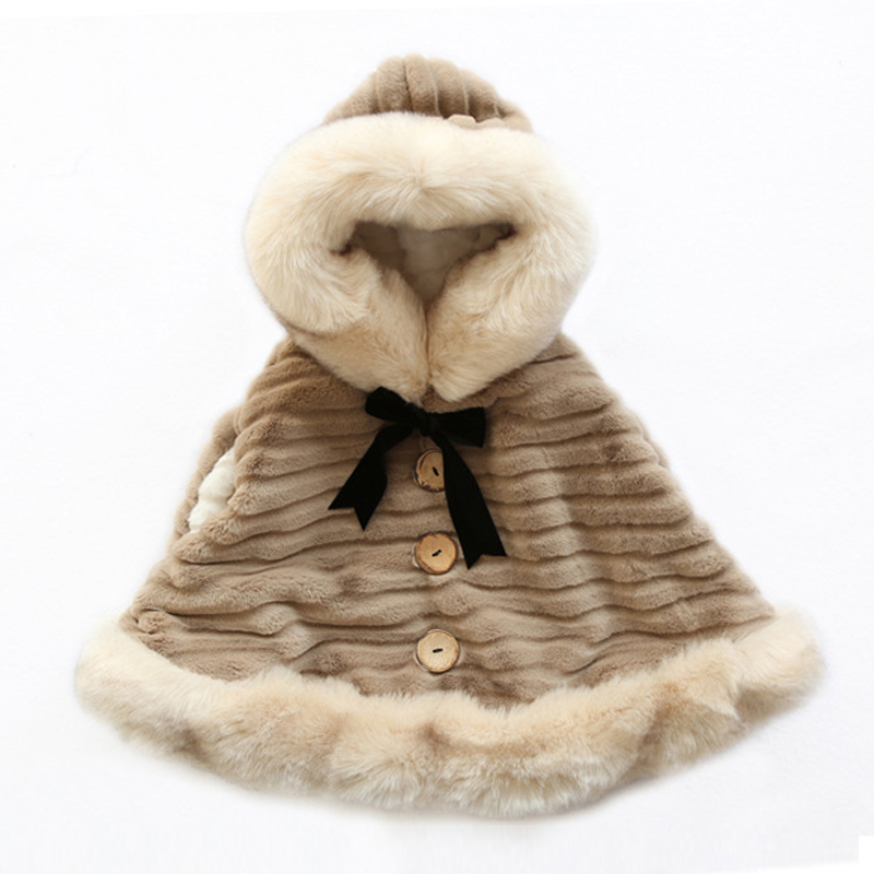 New style 2018 Baby Girls Winter Faux Fur Coat for Girls loose Soft Party Christmas Coat Kids Outwear warm children jacket hot style three points children quilted loose coat