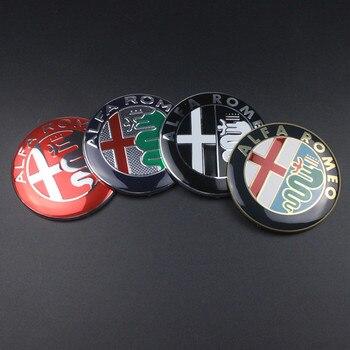 74 millimetri Car styling Speciali di Colore per ALFA ROMEO croce rossa Logo emblem Badge sticker per Mito 147 156 159 166