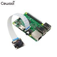 CEWAAL Camera Module Supports All Rev Of RPi 5 Megapixel OV5647 Sensor Adjustable Focal Fisheye Lens