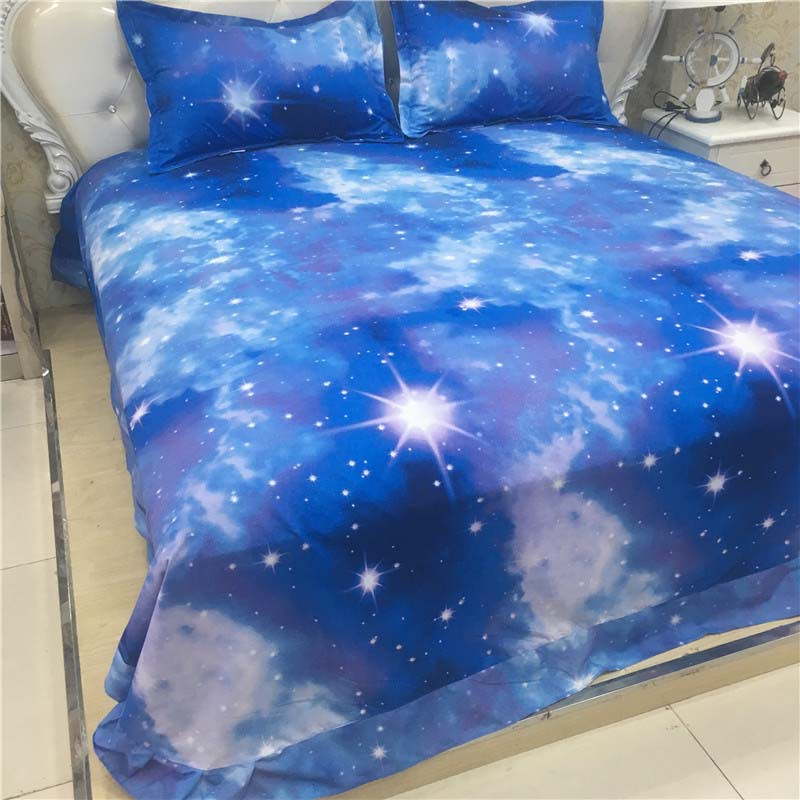 Hot 3d Galaxy bedding sets Twin/Queen Size Universe Outer Space Themed Bedspread 2/3/4pcs Bed Linen Bed Sheets Duvet Cover Set 48