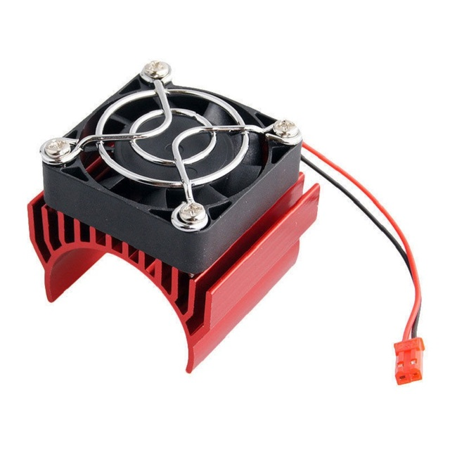 RC Parts Brushless Aluminum Electric 540 550 Motor Heat Sink Cover + Cooling Fan Heatsink 1/10 For HSP Himoto Redcat