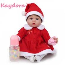Kaydora 16 pollice Di Natale Del Bambino Rinato Silicone Reborn  Baby-vendita calda lol Regalo Di Natale Vestito Dalla Principess. 8f72d6c91f2