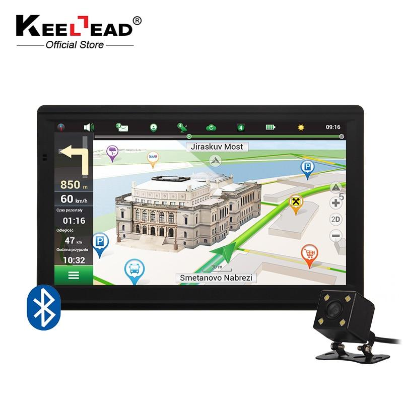 Новый 7 дюймов HD Автомобильный GPS навигации 800 м/FM/8 ГБ/256 МБ новые Географические карты для россия/Казахстан Европа/США + Канада/Австралия грузовик навигатор