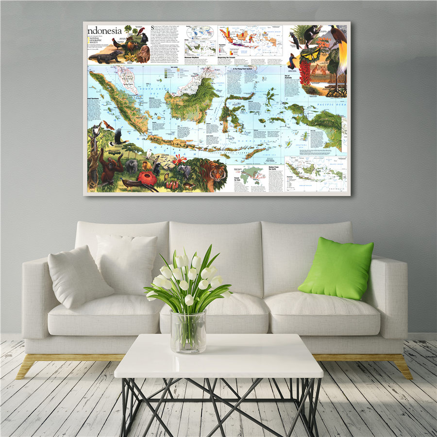 Southeast Asia Map High Quality Canvas Diagram Grand Wall Art Sticker Print Decor For Home Hotel Cafe Bar Detailed Introduction