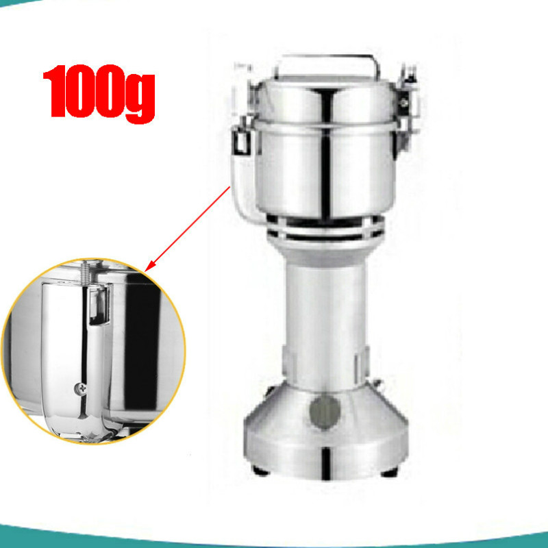 2017 No Swing 100g Mini Industrial Electric Coffee Grinder Grinding Machine Spice Pepper Making Tool Stainless Steel Grinder portable stainless steel electric pepper spice salt milling grinder red silver 6 x aaa