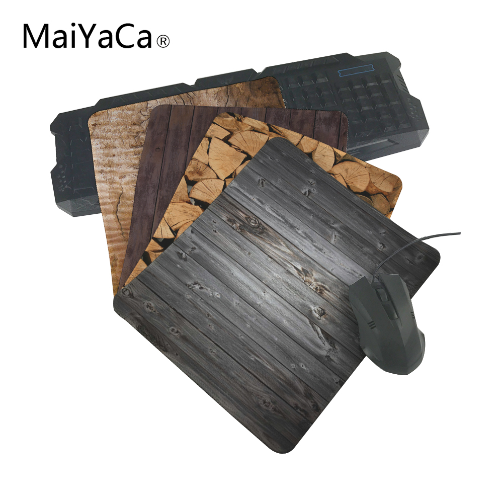 MaiYaCa Top Selling Luxury Wood Hot aming Mouse Pad ame aming Tapis de souris antidérapant durable pour Optal / Trackball Mouse