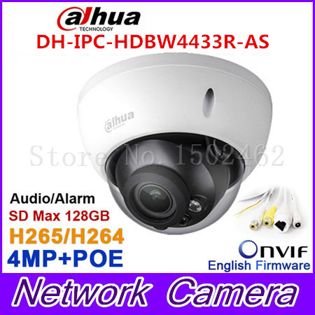 Dahua 4Mp IPC-HDBW4433R-AS IP camera network camera DH-IPC-HDBW4431R-AS Support POE / Micro SD storage/Audio 1/1 channel In/Out original dahua 4mp ipc hdbw4421r as ip network camera support poe