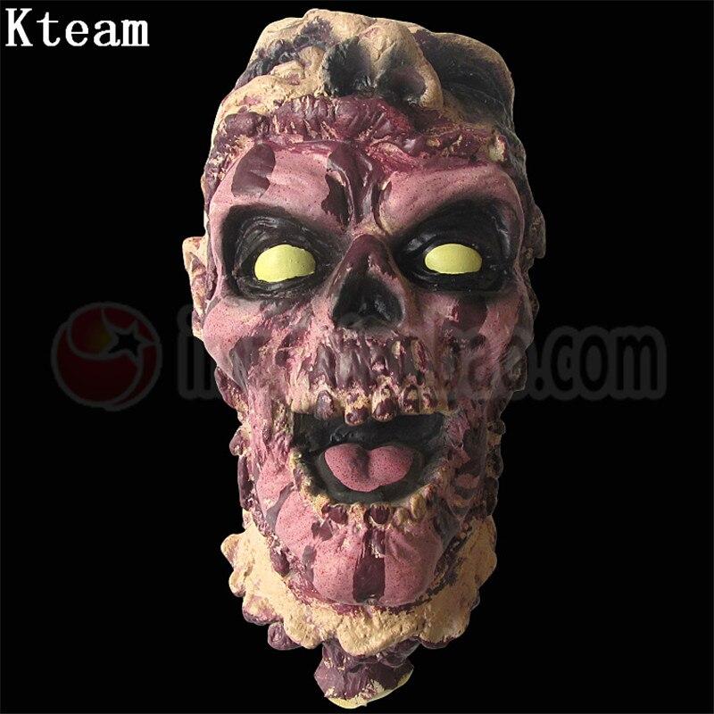 Halloween décoration 3d vue effrayant sanglant cassé Zombie fantôme tête décor Mural partie horreur crâne Terrible fantôme maison accessoires jouet