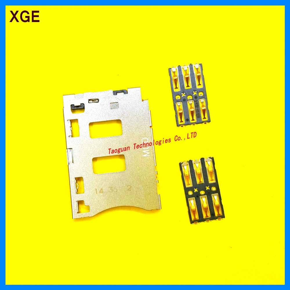 1pair=3pcs XGE New Sim Card socket holder reader slot connector tray Replacement for Xiaomi Mi 3 Mi3 high quality