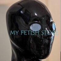 (DM872) 100% натуральный целую голову человеческие лица латекс маска резиновая капот с глазами линзы задохнуться маска Фетиш одежда