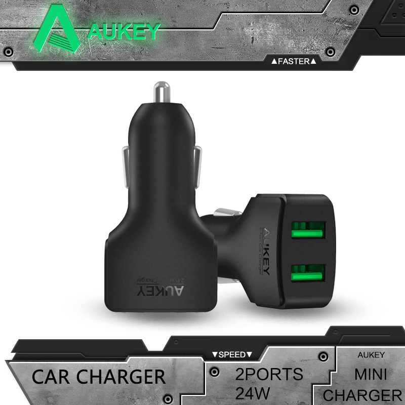 AUKEY Smallest and Most Powerful 24W 4 8A 2 Port Universal Fast USB font b Car