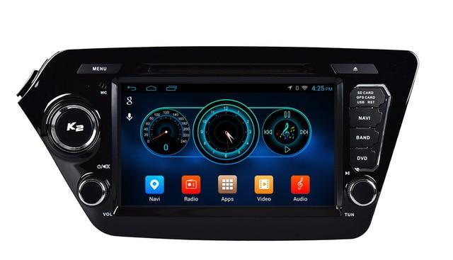 "Quad Core 1024*600 Android wifi 8"" In dash head unit car dvd player gps nav for KIA RIO k2 16G Nand Flash"