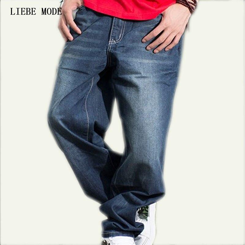 c745adc626 Hip Hop Loose Baggy Jeans Para Hombres Grandes pantalones Slim Fit Straight  Boys Jóvenes Patineta Hiphop