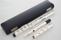 Genuine Suzuki new flute music instrument 17 hole E key open music C primary flute Silver Plated With Mouthpiece performance