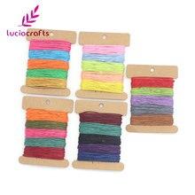 Lucia crafts, 1 мм, 25 ярдов/партия, вощеная нить, хлопковый шнур, веревка, браслет Шамбала, веревка для рукоделия W0702